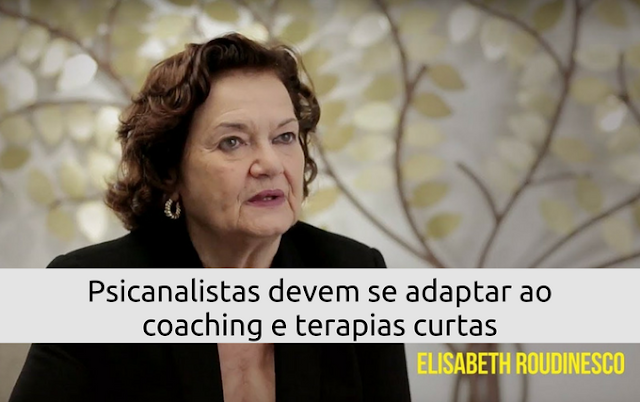 Elisabeth Roudinesco fala quepsicanalistas devem se adaptar ao coaching e terapias curtas por André Kummer