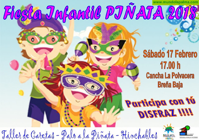 "CARNAVAL BREÑA BAJA: Fiesta Infantil de ""Piñata"""