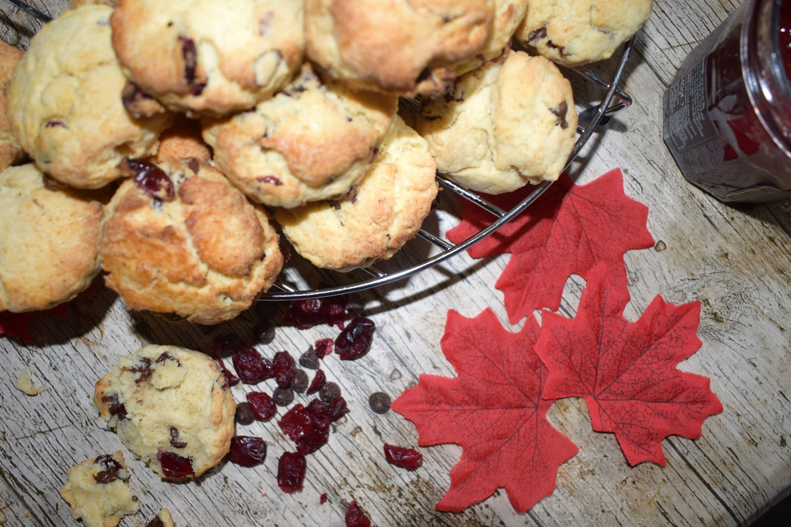 Cranberry and chocolate chip scones