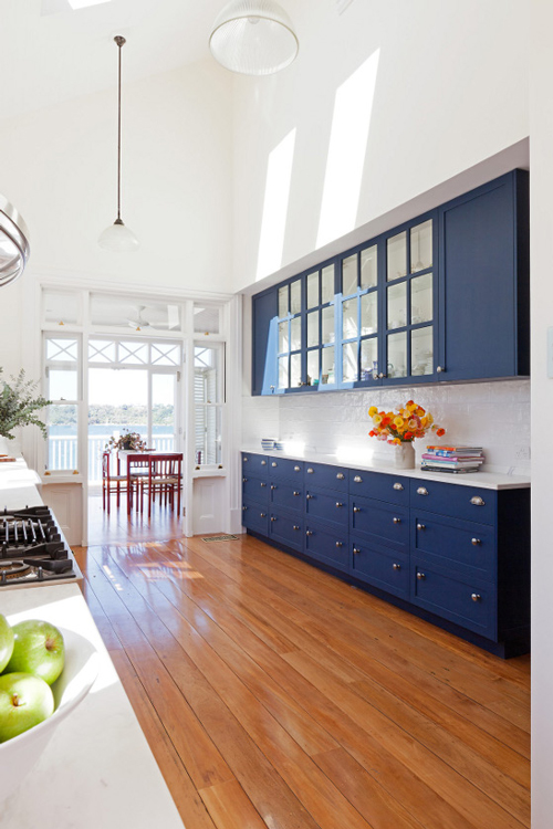 The Peak of Trs Chic Needing Wanting Loving Navy Cabinetry