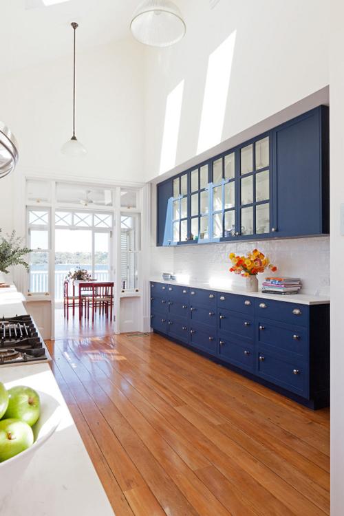 Navy Blue Kitchen Walls