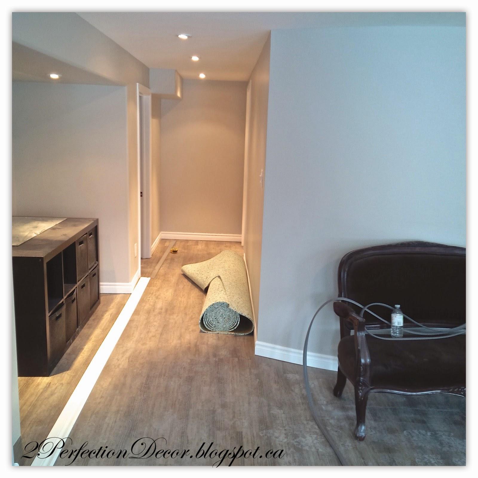 2Perfection Decor: Basement Flooring Gets Installed