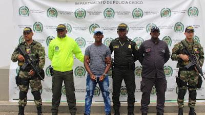 Un Miembro del ala sicarial del Clan del golfo requerido por concierto para delinquir agravado  fue capturado por las autoridades chocoanas