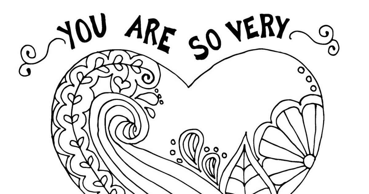 Coloring Page World: You Are So Very Loved