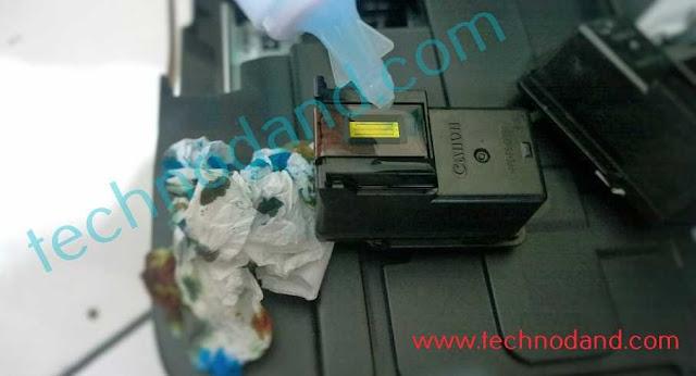 catridge printer canon mampet, hasil bergaris