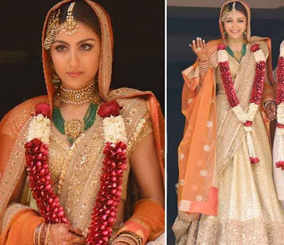 Bride Soha Ali Khan on wedding day