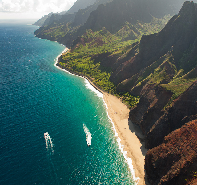 Kauai Beaches: Na Pali Coast In Kauai, Hawaii