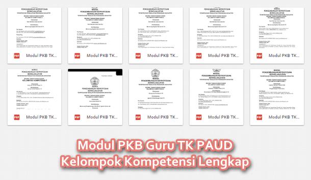 Modul PKB Guru TK PAUD Kelompok Kompetensi Lengkap