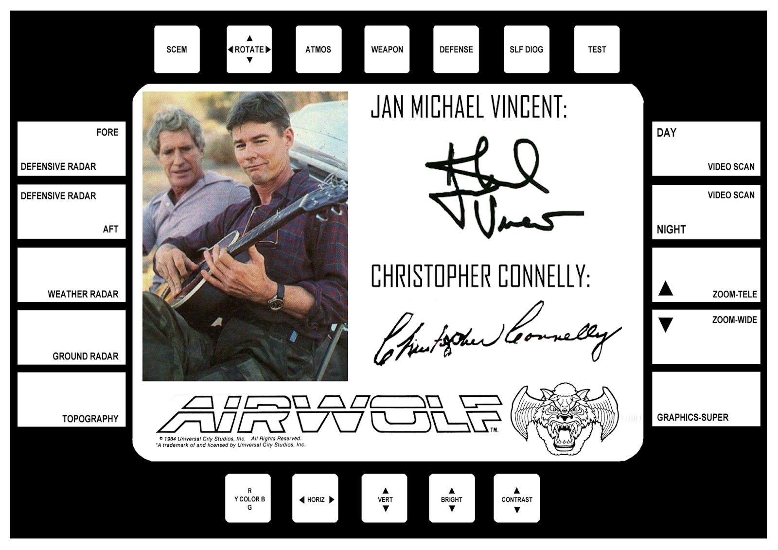 The Airwolf UPC Serial & Merchandise Database: Autograph Frame JMV ...
