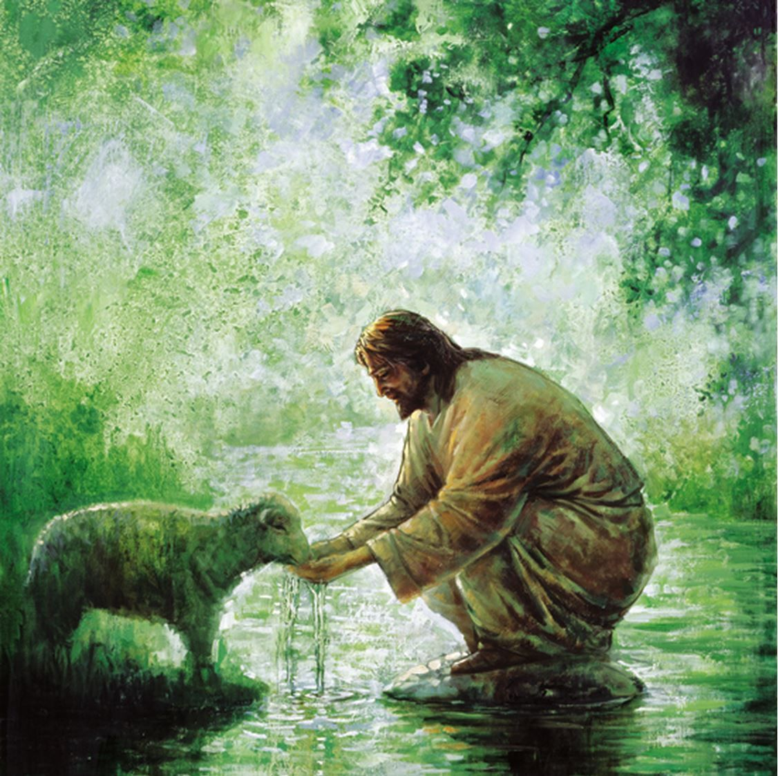 . . . He leads me beside the still waters. He refreshes my soul; . . .