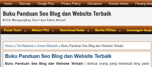 Cara Agar Judul Postingan Menjadi Judul Halaman Blog Cara Agar Judul Postingan Menjadi Judul Halaman Blog