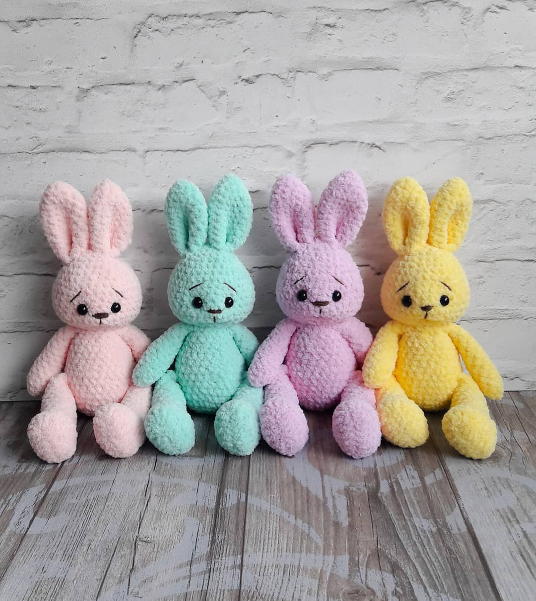 Bunny amigurumi crochet plush toy