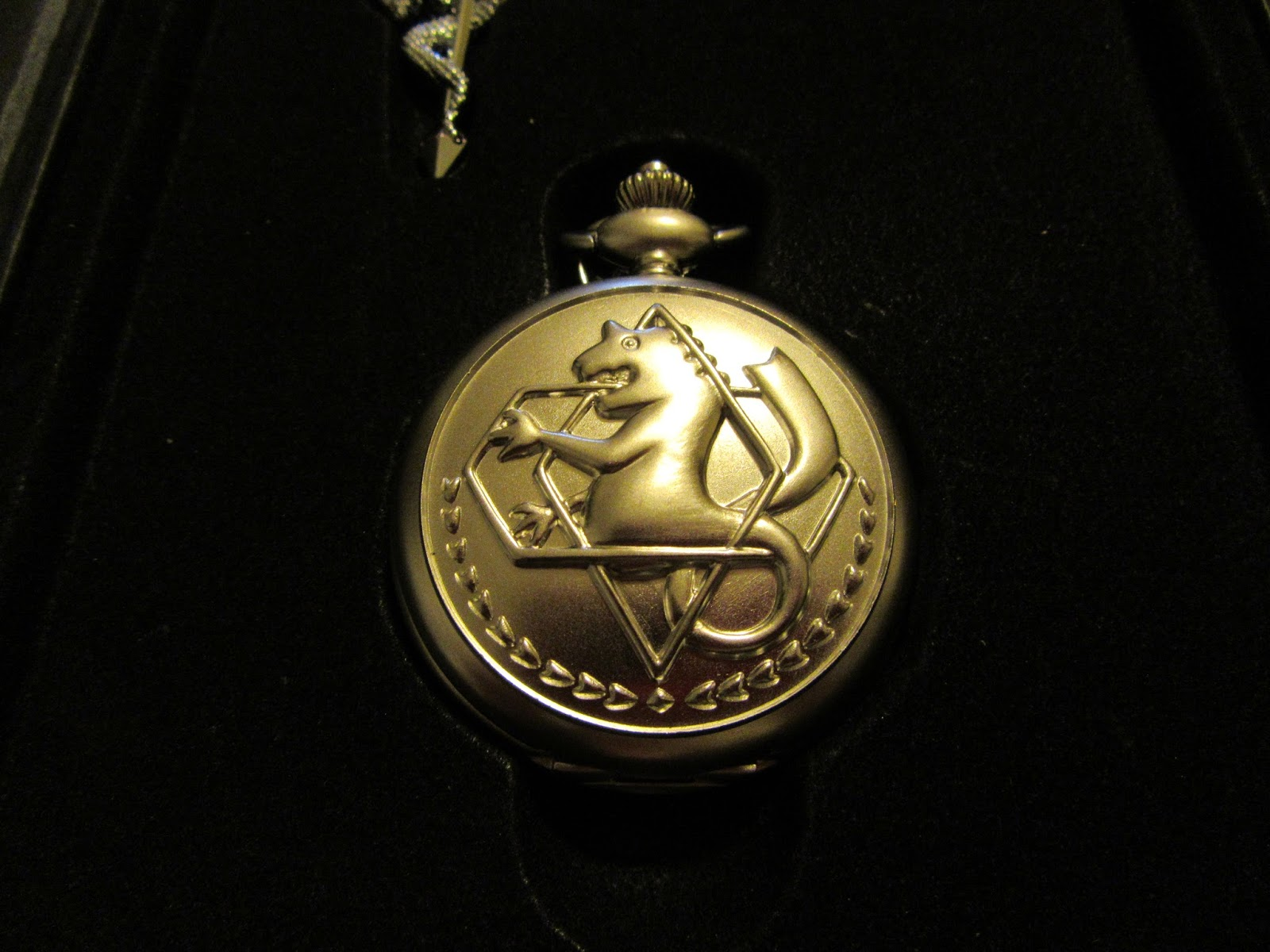 fullmetal alchemist anime pocket necklace ring