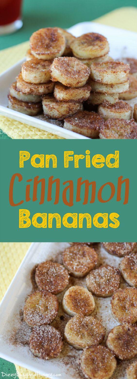 PAN FRIED CINNAMON BANANAS - Mom's Recipe Healthy