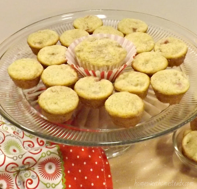 Home Sweet Homestead: Mini Rhubarb Muffins
