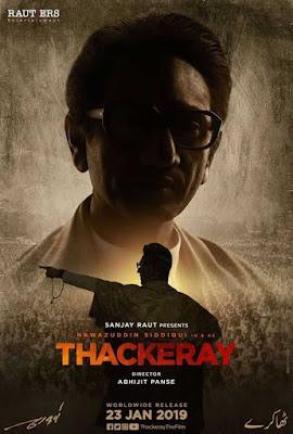 Poster Thackeray 2019 Hindi HD 720p