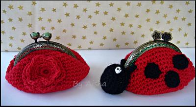 monederos de crochet con boquilla metalica hechos a mano