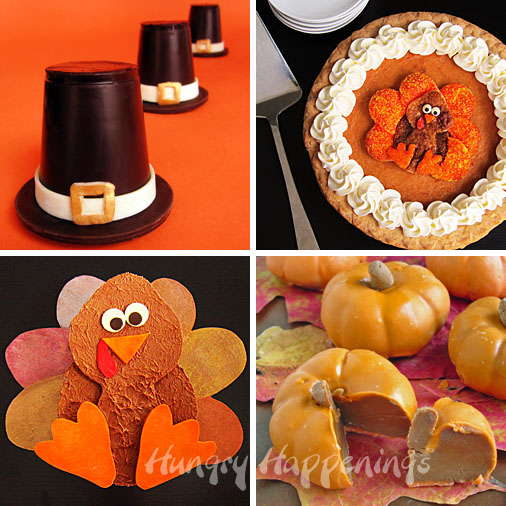Thanksgiving Edible Craft Recipes - Appetizers and Desserts