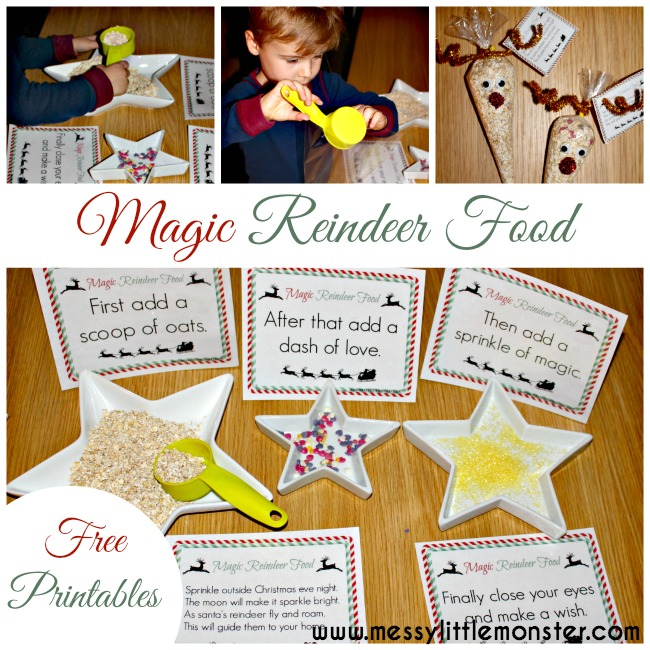 picture relating to Reindeer Food Labels Printable titled Magic Reindeer Foods - Messy Small Monster