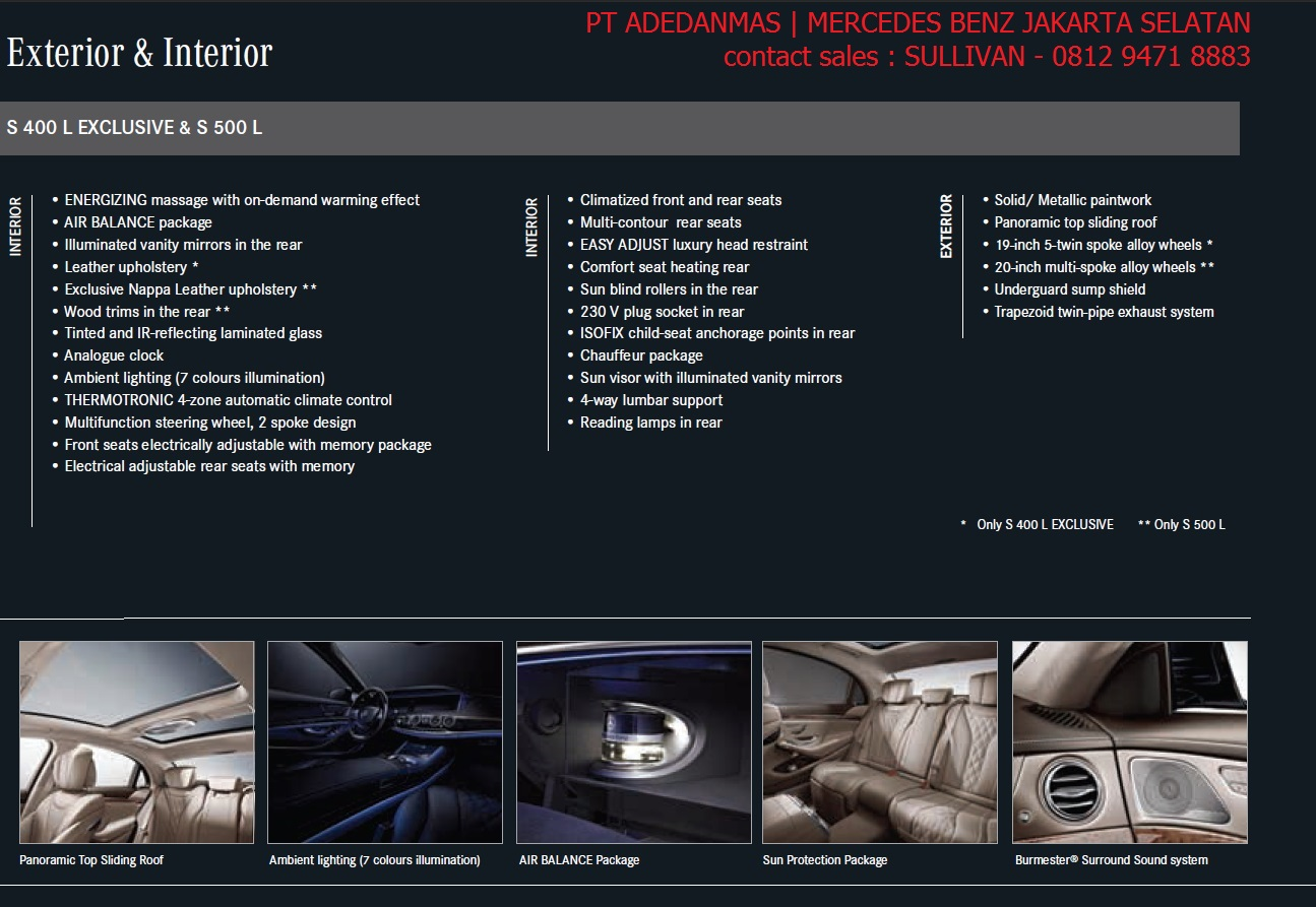 Spesifikasi promo mercedes benz s class 2017 indonesia for Mercedes benz service a coupons 2017