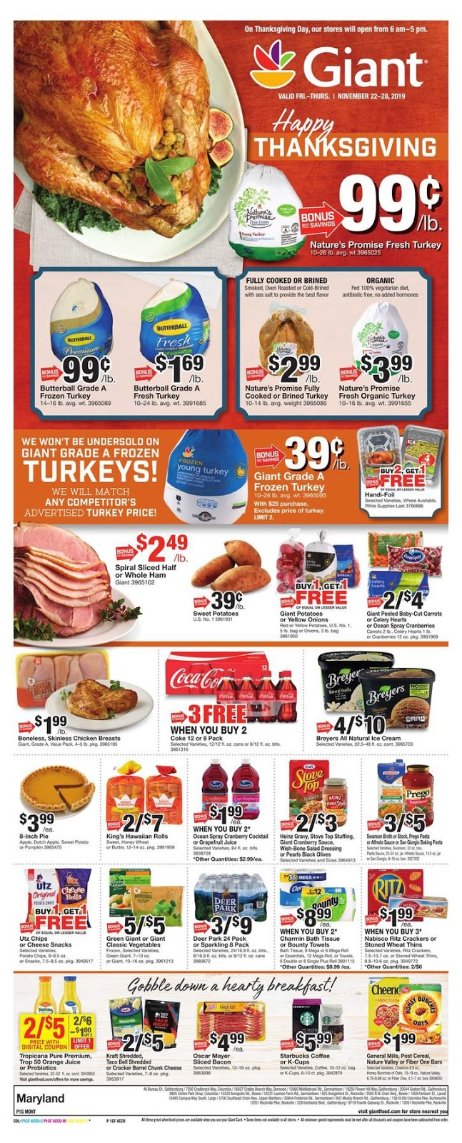 Giant Food Weekly Ad