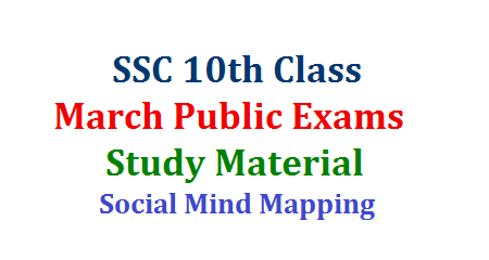 AP TS SSC 10th Public Examination Preparation Study material Download Here Social Studies Chapter wise Preparation Mind Mapping Material Download Here How to prepare to gain Better Grade in SSC Public Examination Suggestive Study Material for 10th Class Public Examination ssc-social-studies-chapter-wise-mind-mapping-public-examiantion-preparation