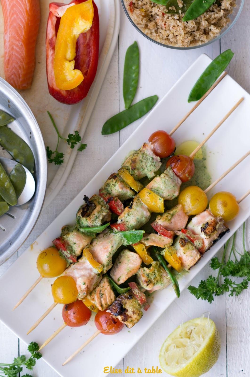 recette brochettes de saumon