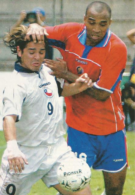 Costa Rica y Chile en partido amistoso, 8 de junio de 2003