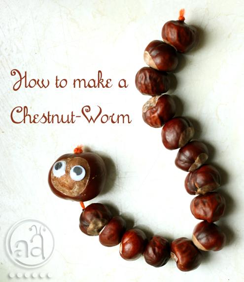 fall craft tutorial: make a chestnut worm!