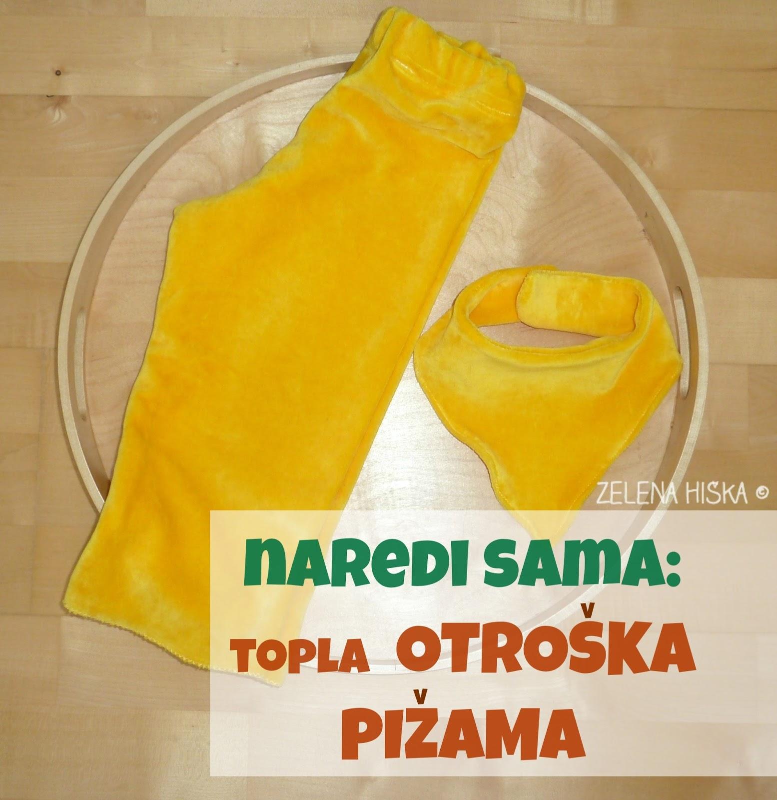 Naredi sam - topla otroška pižama
