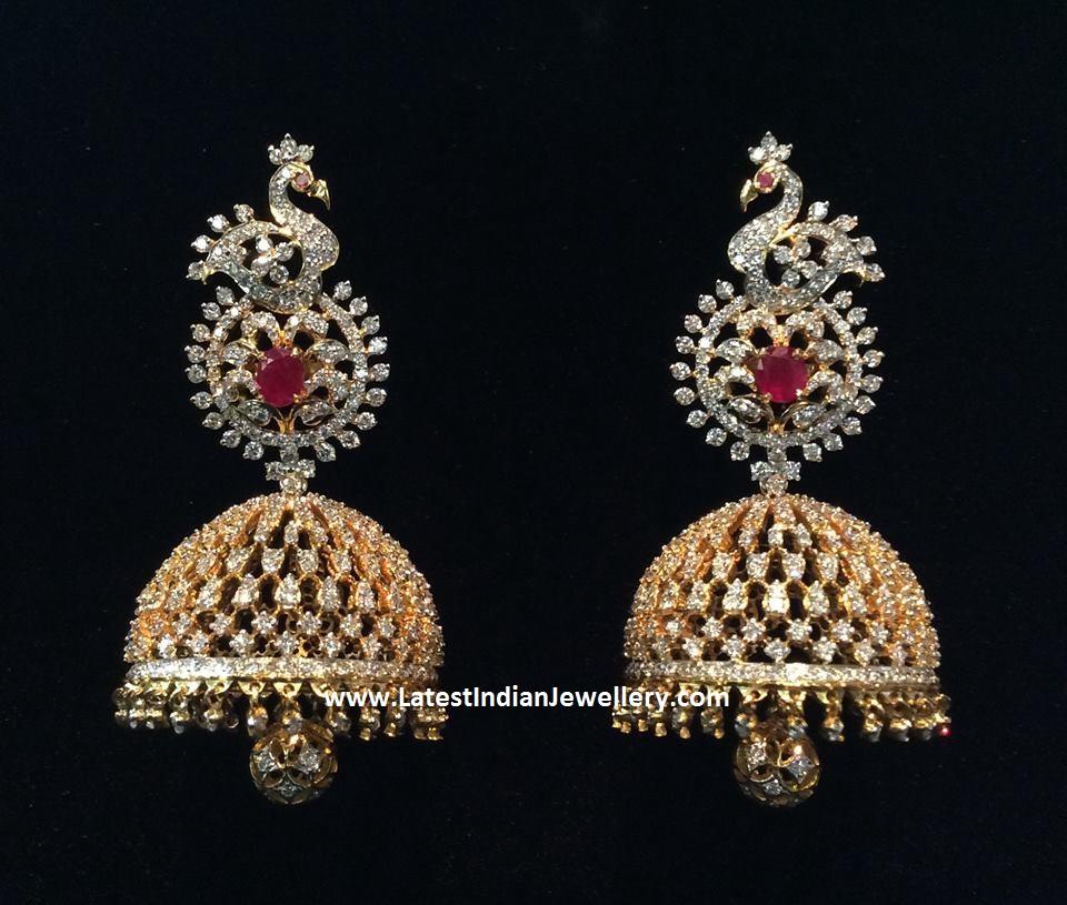 diamond jhumkas indian - photo #18