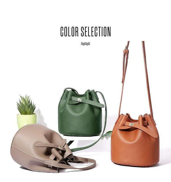 Women's Vintage Fashion Retro Buckle Bucket Shoulder Bag
