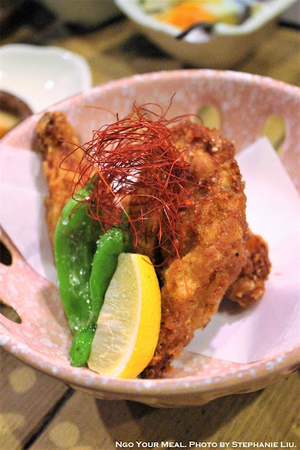 Deep-fried Spicy Chicken Wing at Ganchan in Tokyo