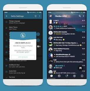 Aplikasi BBM Mod Android Delta v 3.3.1.24 Release Terbaru Changelog v4.2.0
