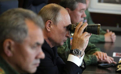 Vladimir Putin observing exercises of Russian Army at the Zapad-2017.