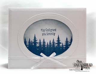 Our Daily Bread Designs Stamp Set: Seek Me, Custom Dies: Ovals, Oval Stitched Rows, Pierced Rectangles