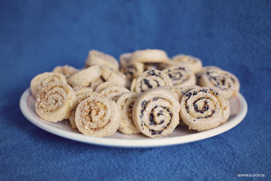 Rezept: Sesam-Spiralkekse für Hunde