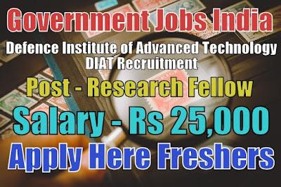 DIAT Recruitment 2019