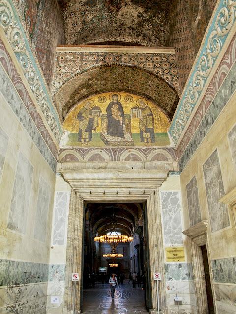 Santa Sofía, mosaico de Justiniano y Constantino