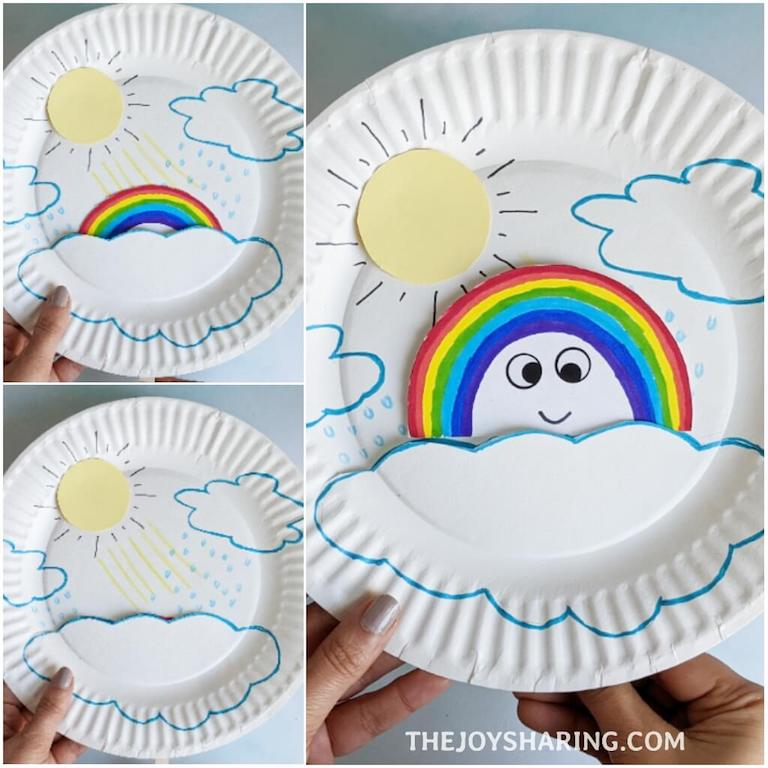 Easy craft activity to explain rainbow science