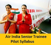 Air India Senior Trainee Pilot Syllabus
