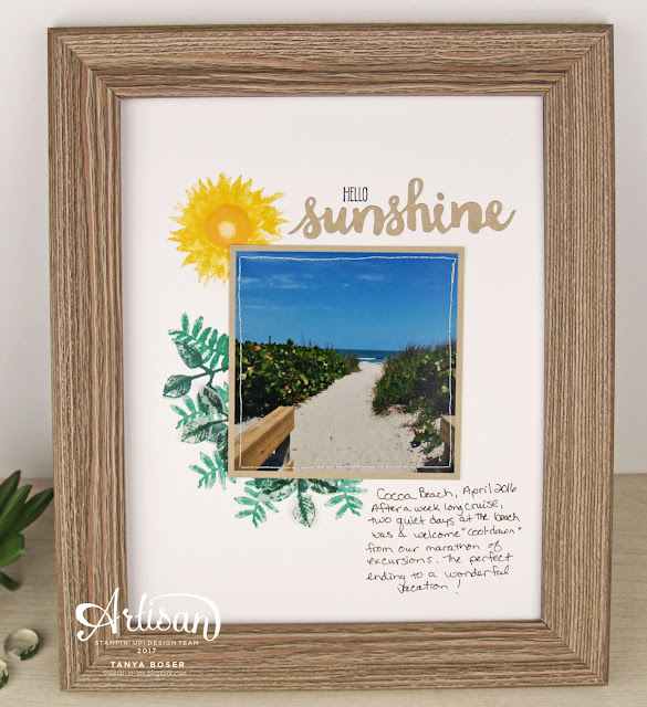 The Painted Harvest stamp set from Stampin' Up! not only creates stunning sunflowers, it also creates a lovely sun! ~ Tanya Boser for the 2017 Artisan Design Team