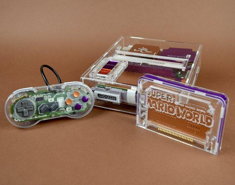 Arreglan Super Nintendo rota y le dan estética transparente de lo más espectacular