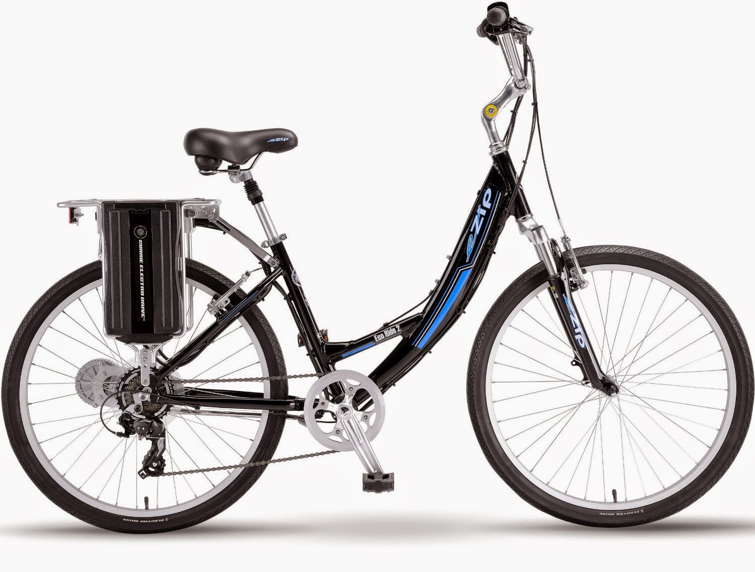 Women's eZip Eco-Ride-2 SLA Electric Bicycle, review, speeds up to 15 mph, distance range up to 22 miles