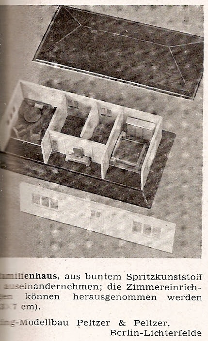 diepuppenstubensammlerin miniatur haus 1951 wiking miniature house. Black Bedroom Furniture Sets. Home Design Ideas