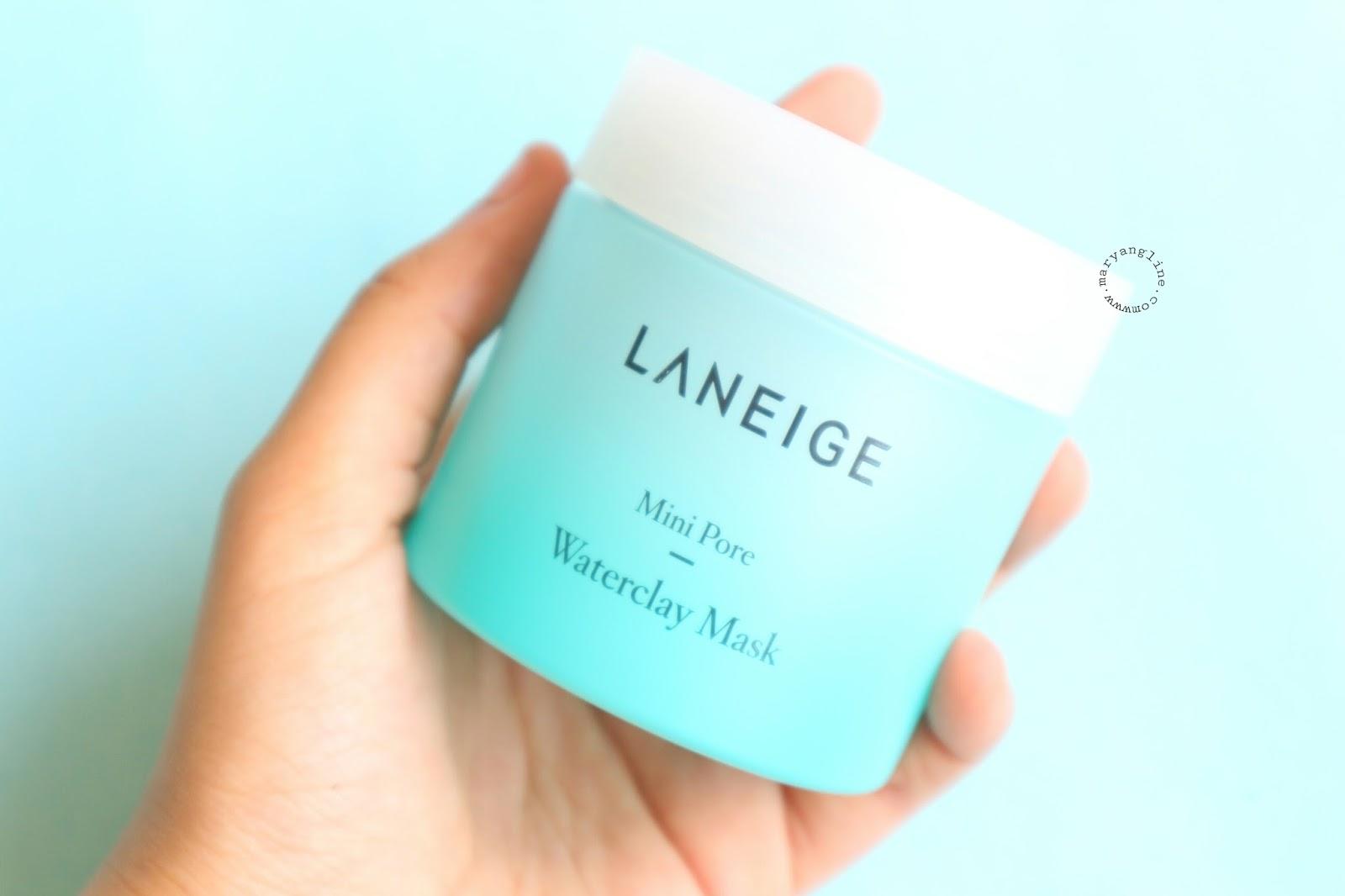 Review Laneige Mini Pore Waterclay Mask Mary Angline Wateclay Di Bagian Belakang Terdapat Keterangan Benefit Skin Type Bla Dalam Bahasa Korea