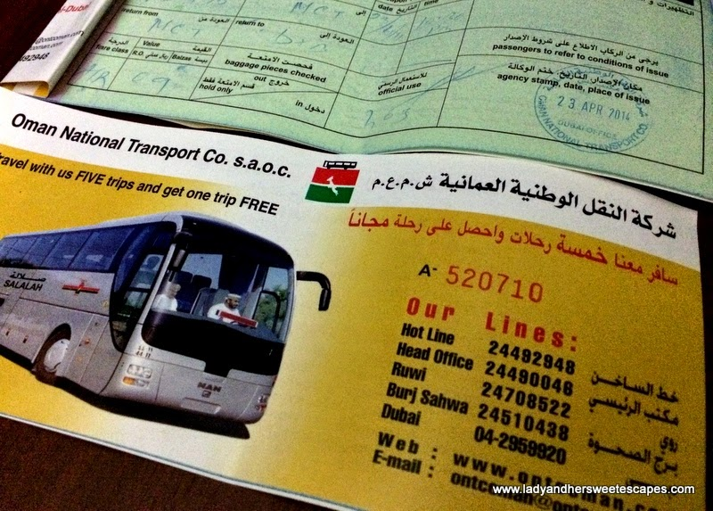 Oman National Transport Co. bus tickets