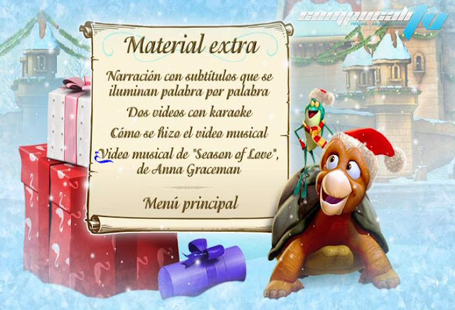 The Swan Princess Christmas DVDR NTSC Español Latino Menú Full 2012