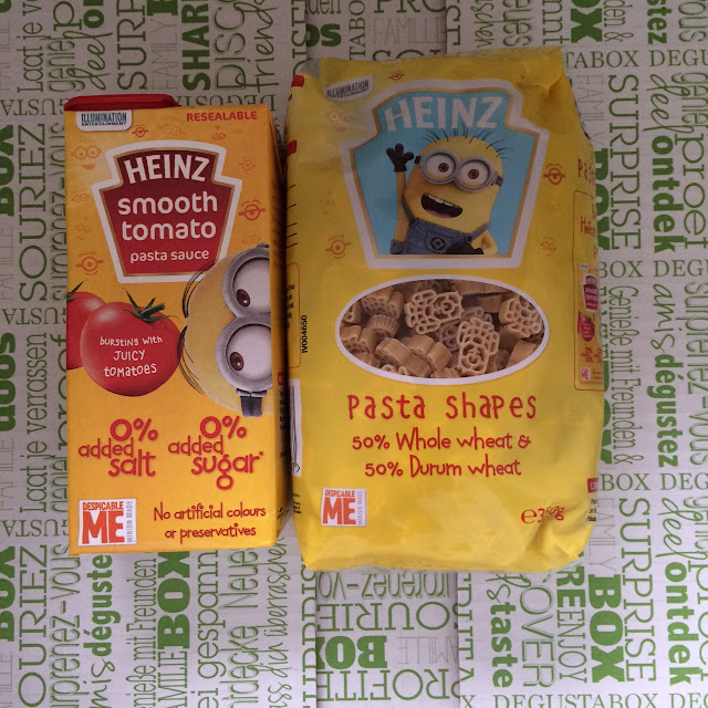 Heinz minion pasta and sauce