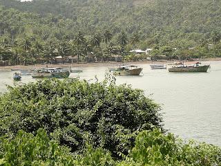 Kuba, Baracoa, Bucht mit Hafen.